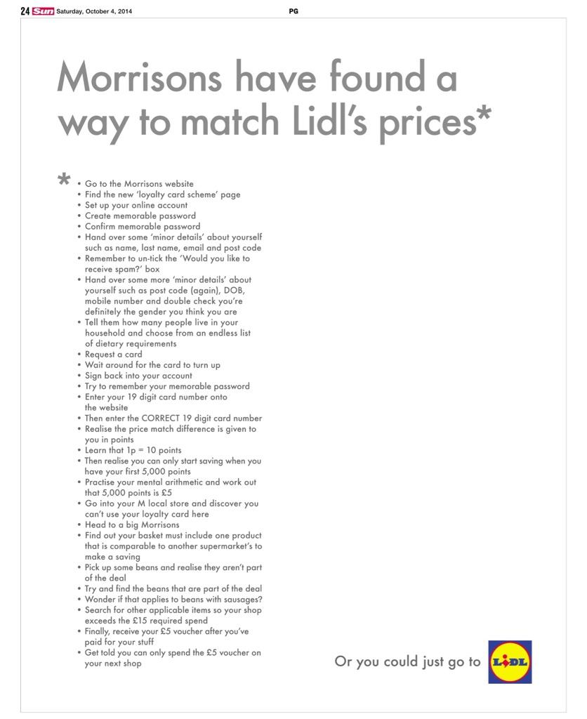 Lidl and Morrison's go to war